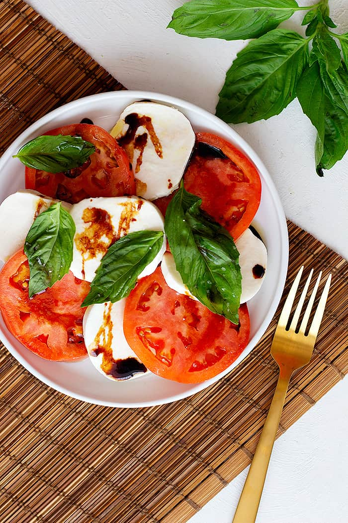 You can top this salad with olive oil or balsamic vinegar.
