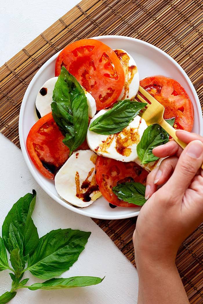caprese salad is an Italian classic.