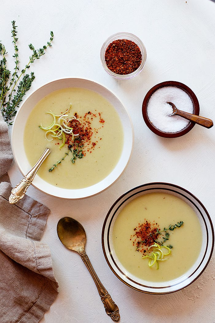 This creamy instant pot potato soup is light and can be served as an appetizer.