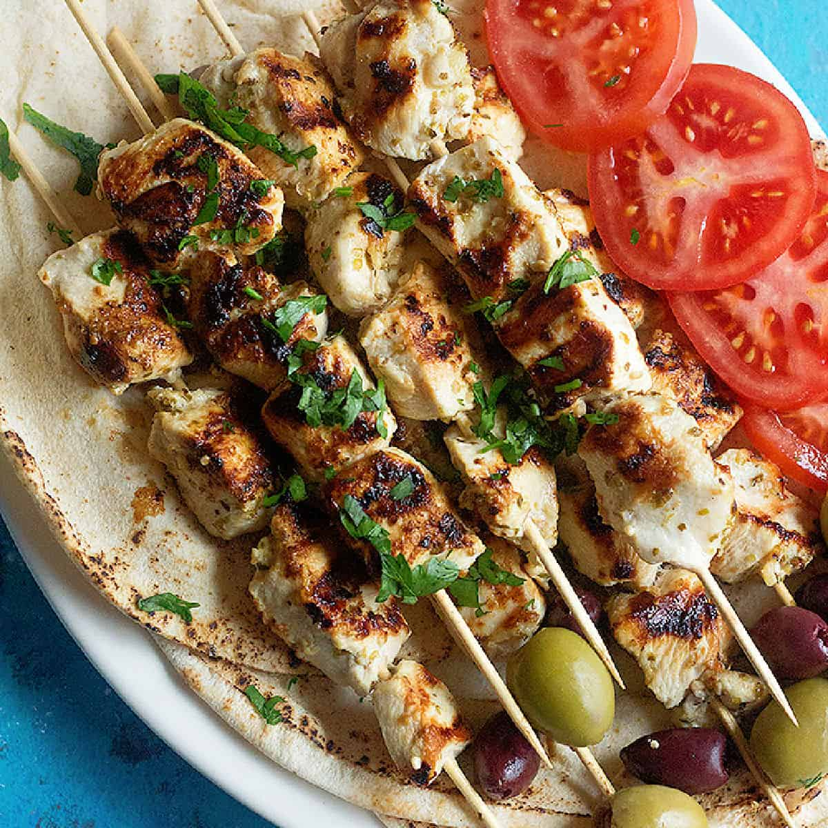 Easy Greek Chicken Souvlaki Recipe Unicorns In The Kitchen