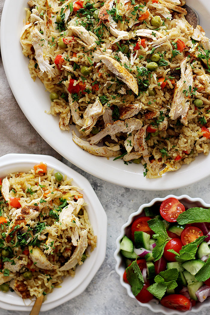 This chicken and rice dish is made in the instant pot and is very delicious.