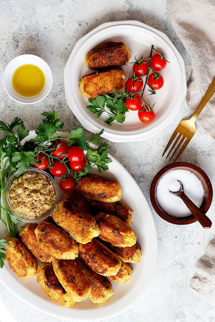 A platter of these croquettes would be perfect for lunch or dinner.