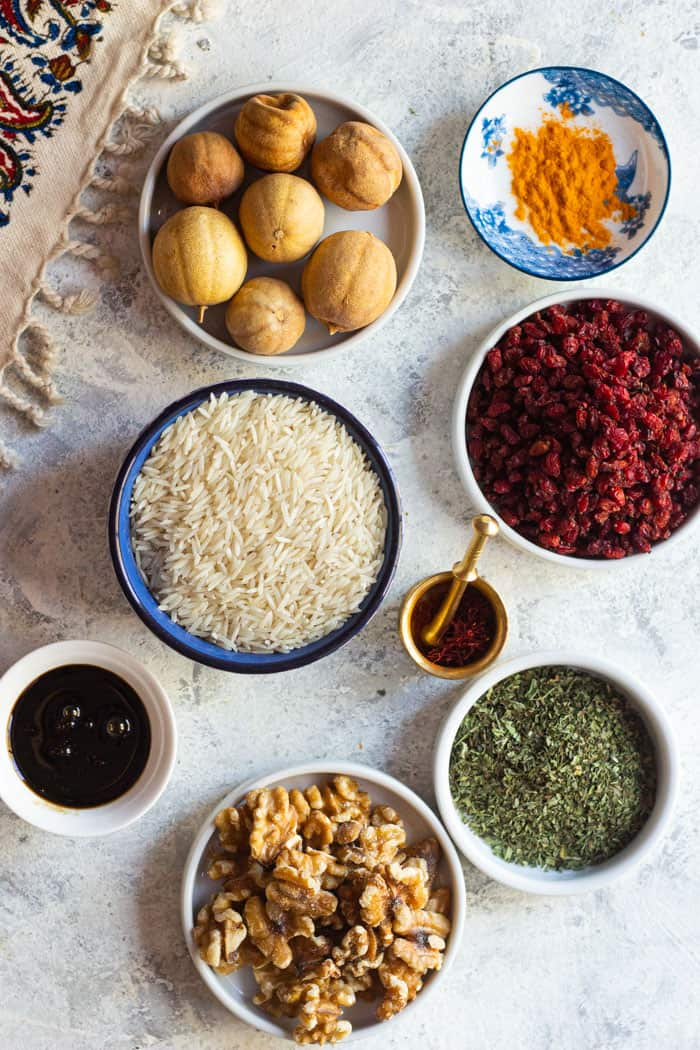 With these ingredients you can make any Iranian recipe you like.