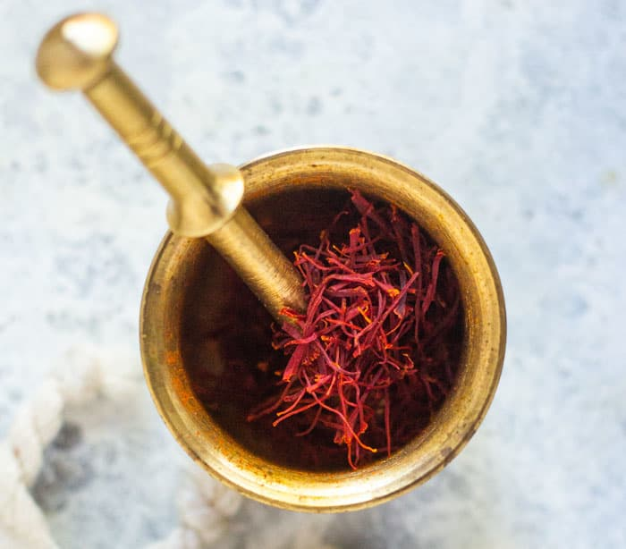 Saffron is an important item in Persian cooking.
