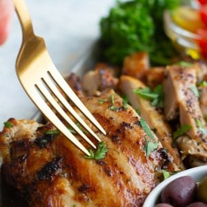 This chicken is so tender and tasty.