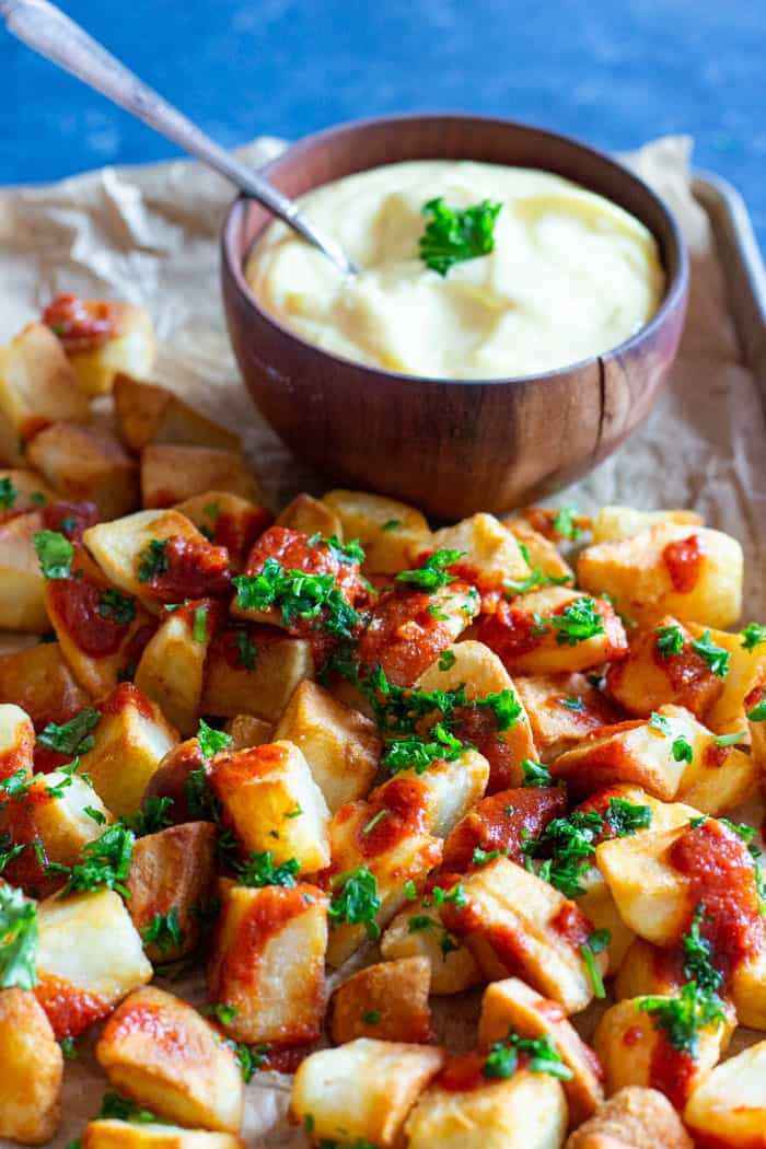 Patatas bravas is an easy Spanish tapa recipe that you can make in no time.