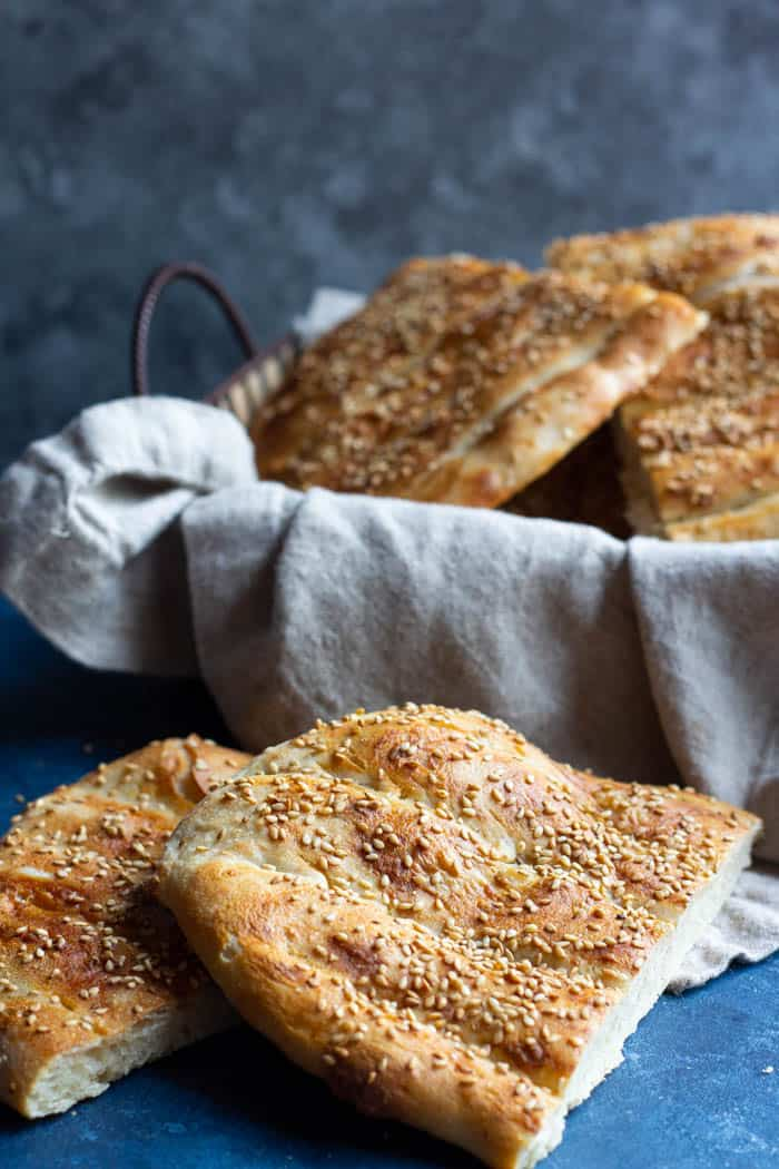 Sourdough barbari is made with sourdough starter and is perfect for breakfast.