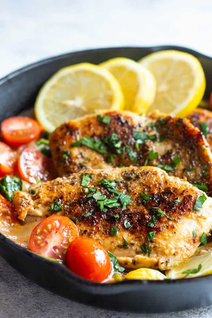 Italian skillet chicken recipe is the perfect weeknight dinner because it's easy and simple.