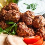 Mediterranean baked turkey meatballs are perfect for a light lunch or dinner.