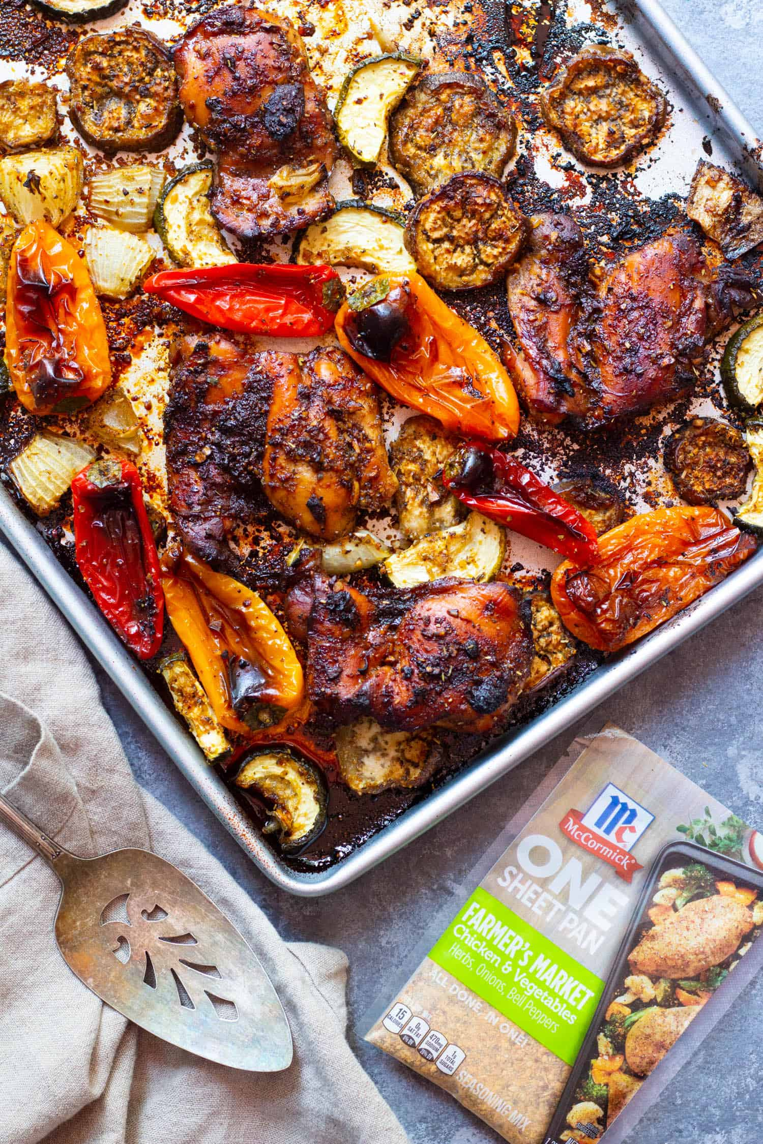 sheet pan honey balsamic chicken is easy, simple and so delicious.