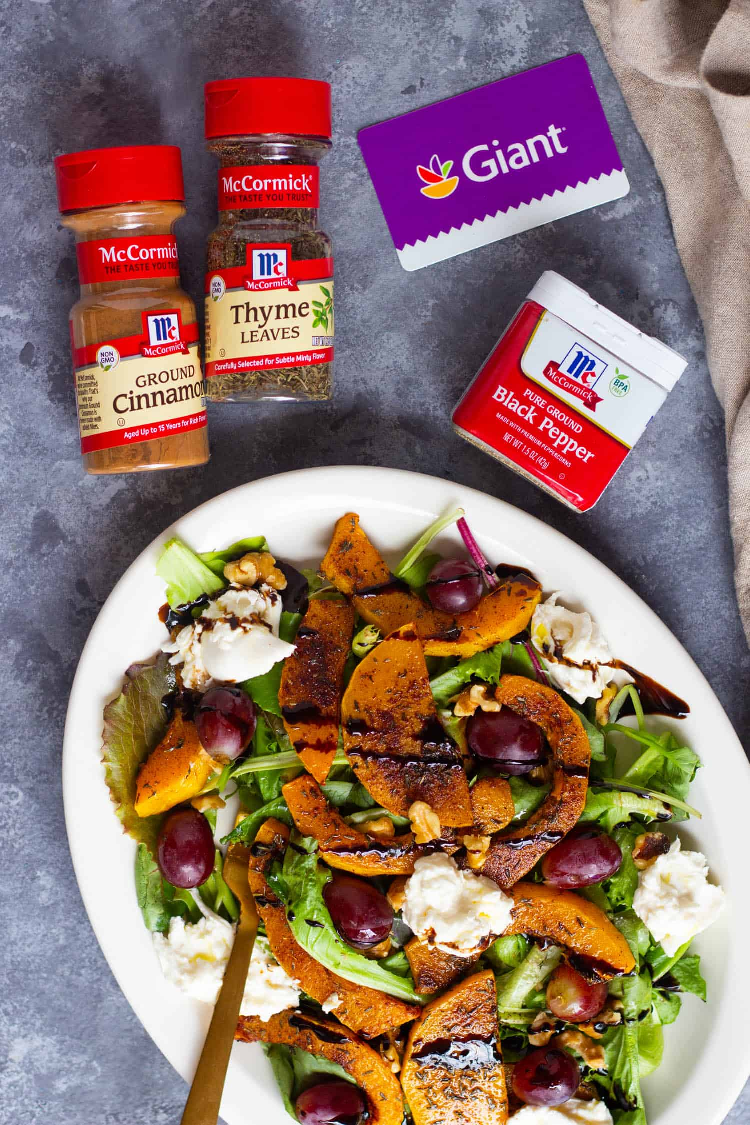 roasted butternut squash salad is easy and delicious.