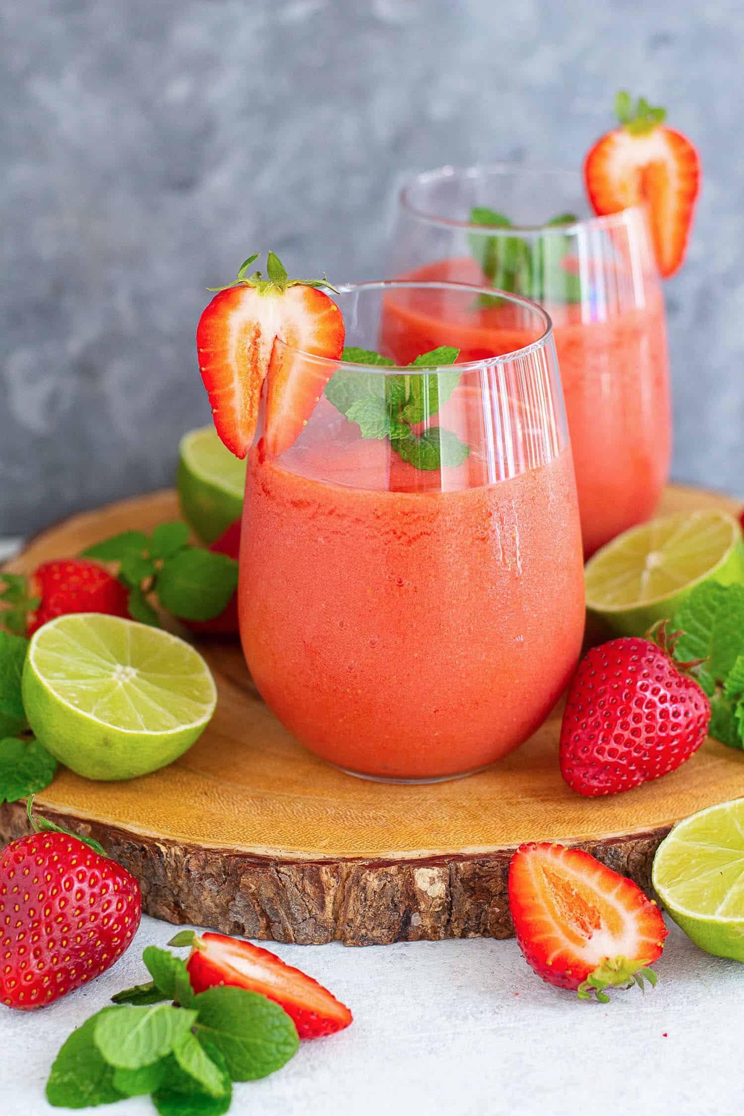 Virgin Strawberry Daiquiri Recipe Unicorns In The Kitchen