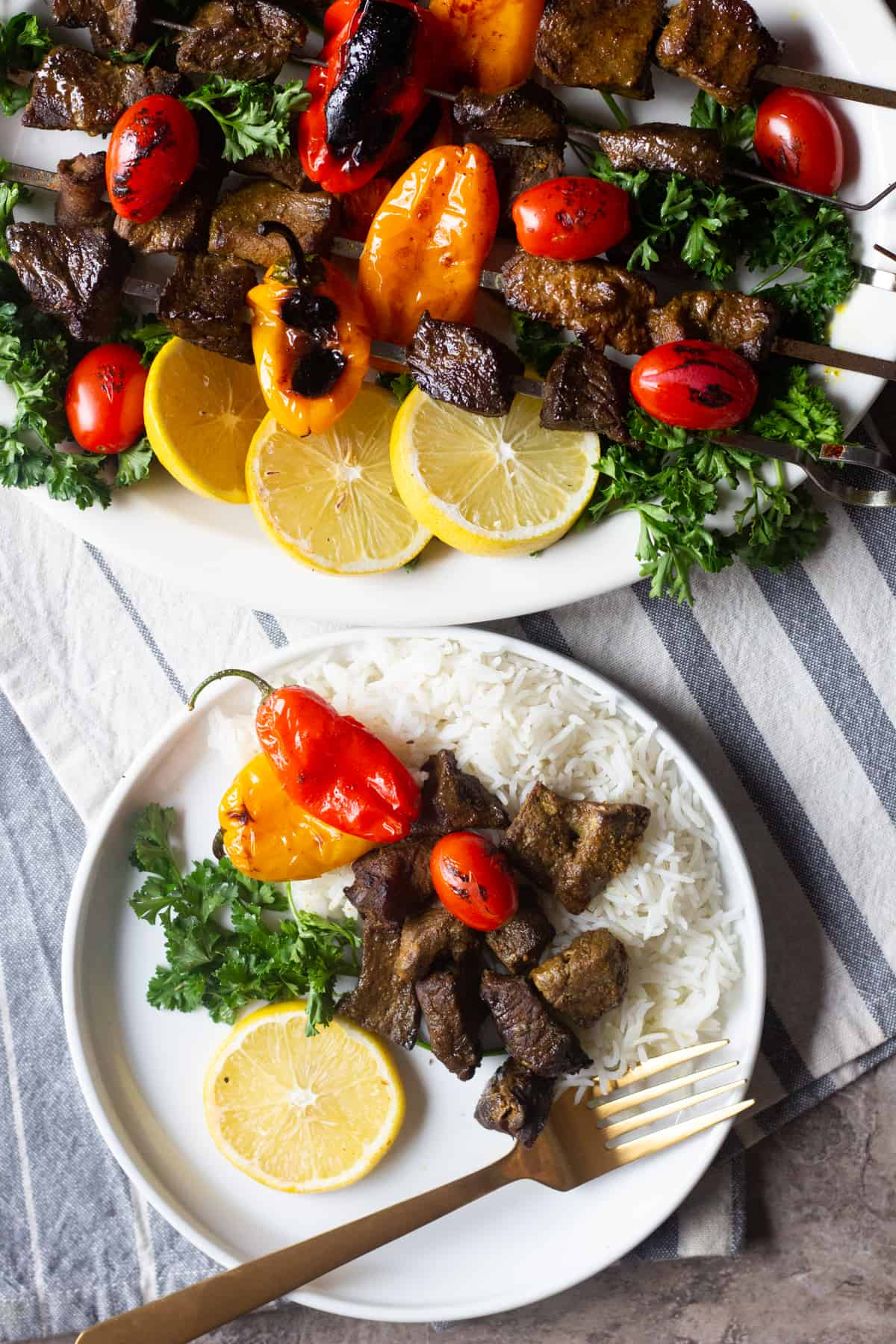 An easy beef shish kabob recipe that's packed with amazing flavors. Learn all the tips and tricks for making the best shish kabobs at home.