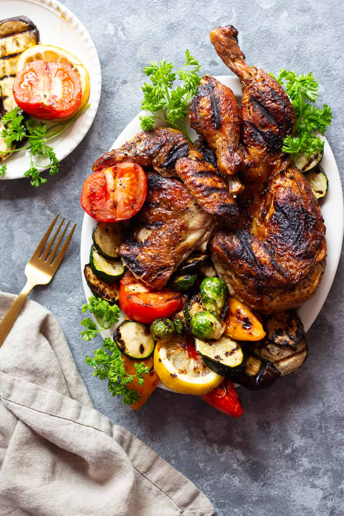 How to make grilled spatchcock chicken on charcoal grill.