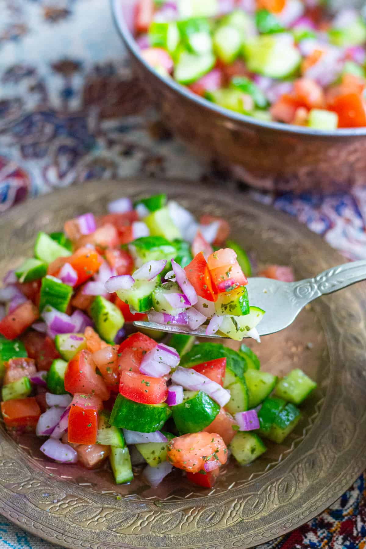 Add some dried mint and lemon juice to this salad for maximum flavor.