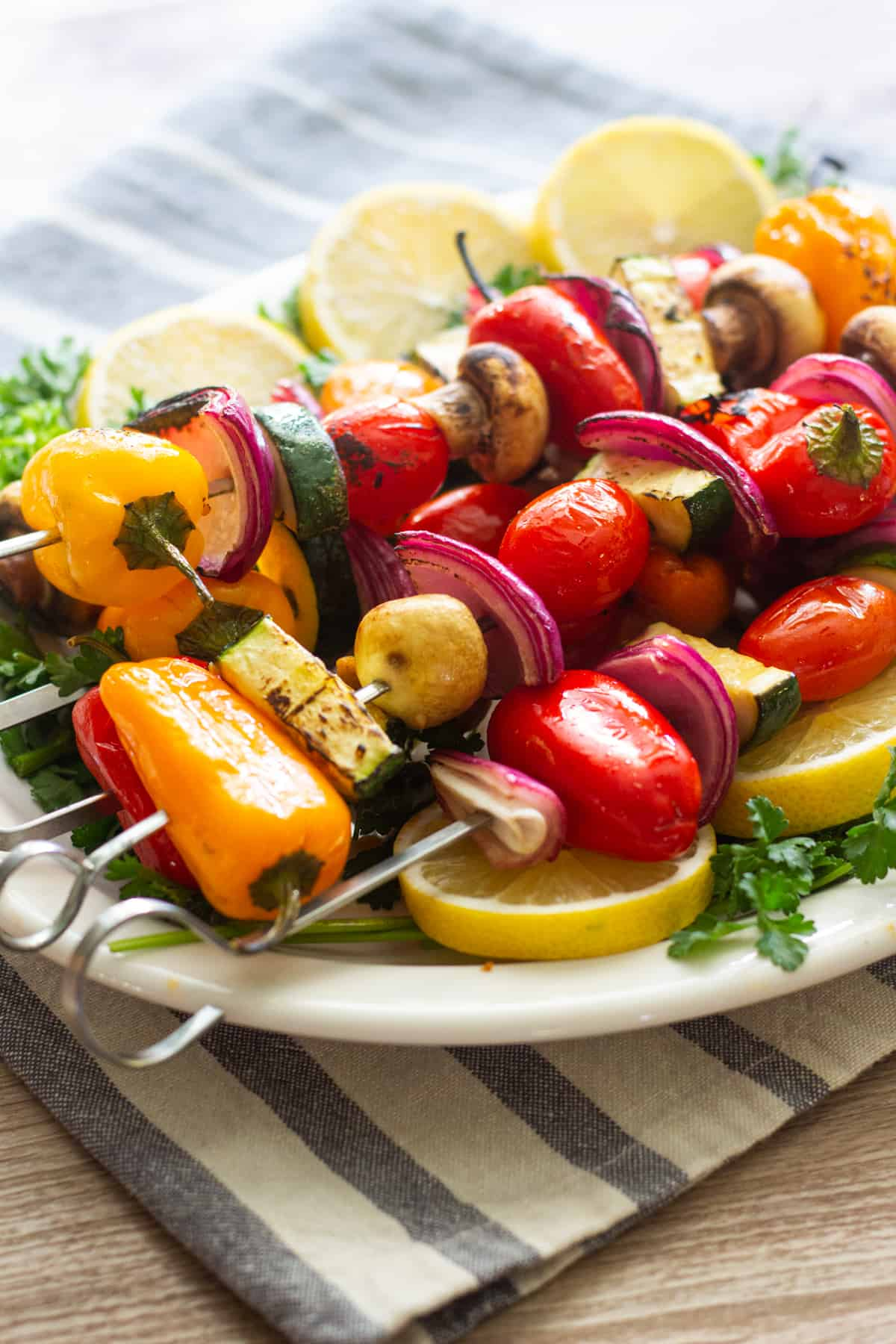 veggie shish kabob is a great side dish.