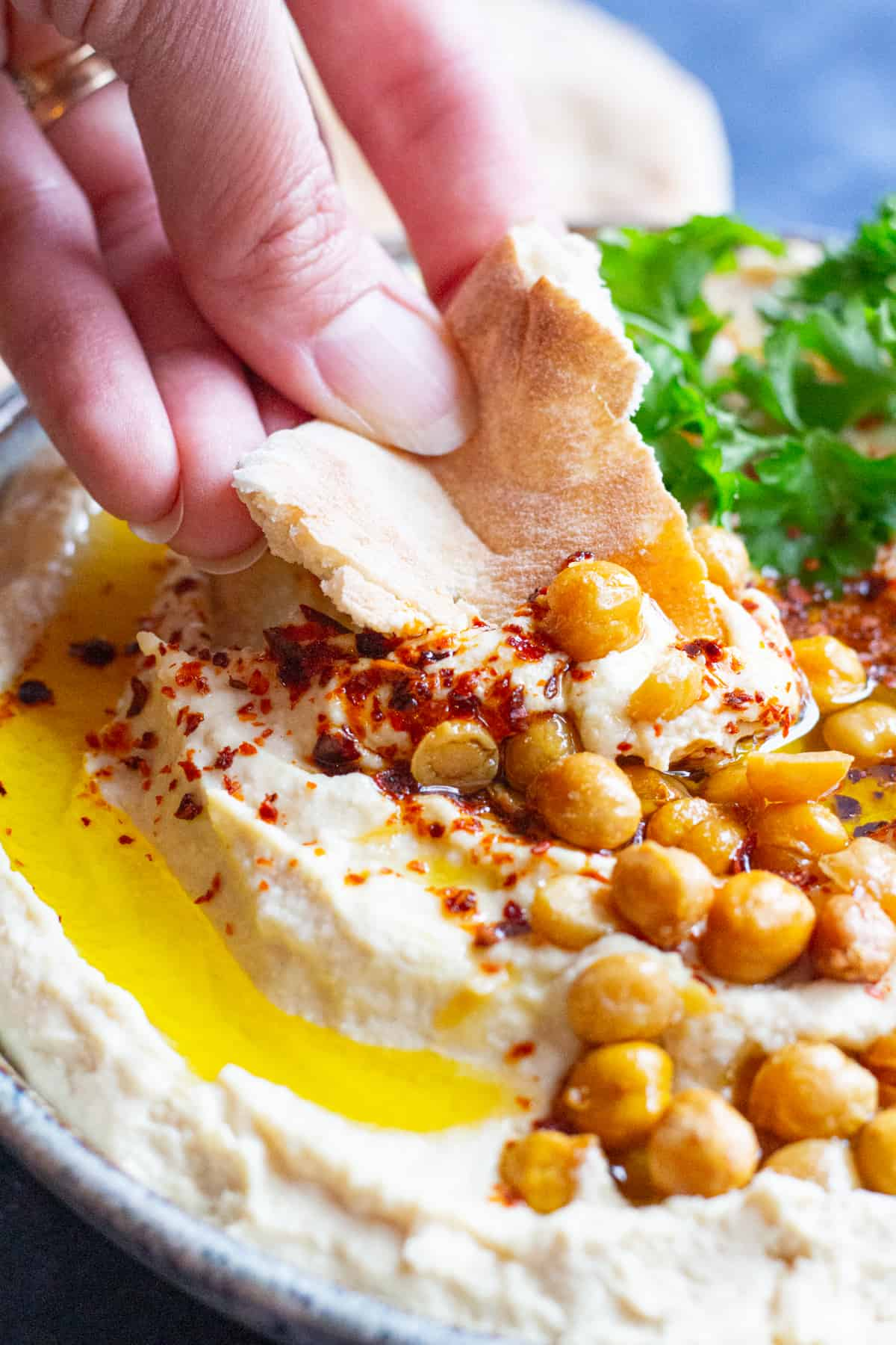 This simple homemade hummus recipe is easy to make. Serve with fresh pita.