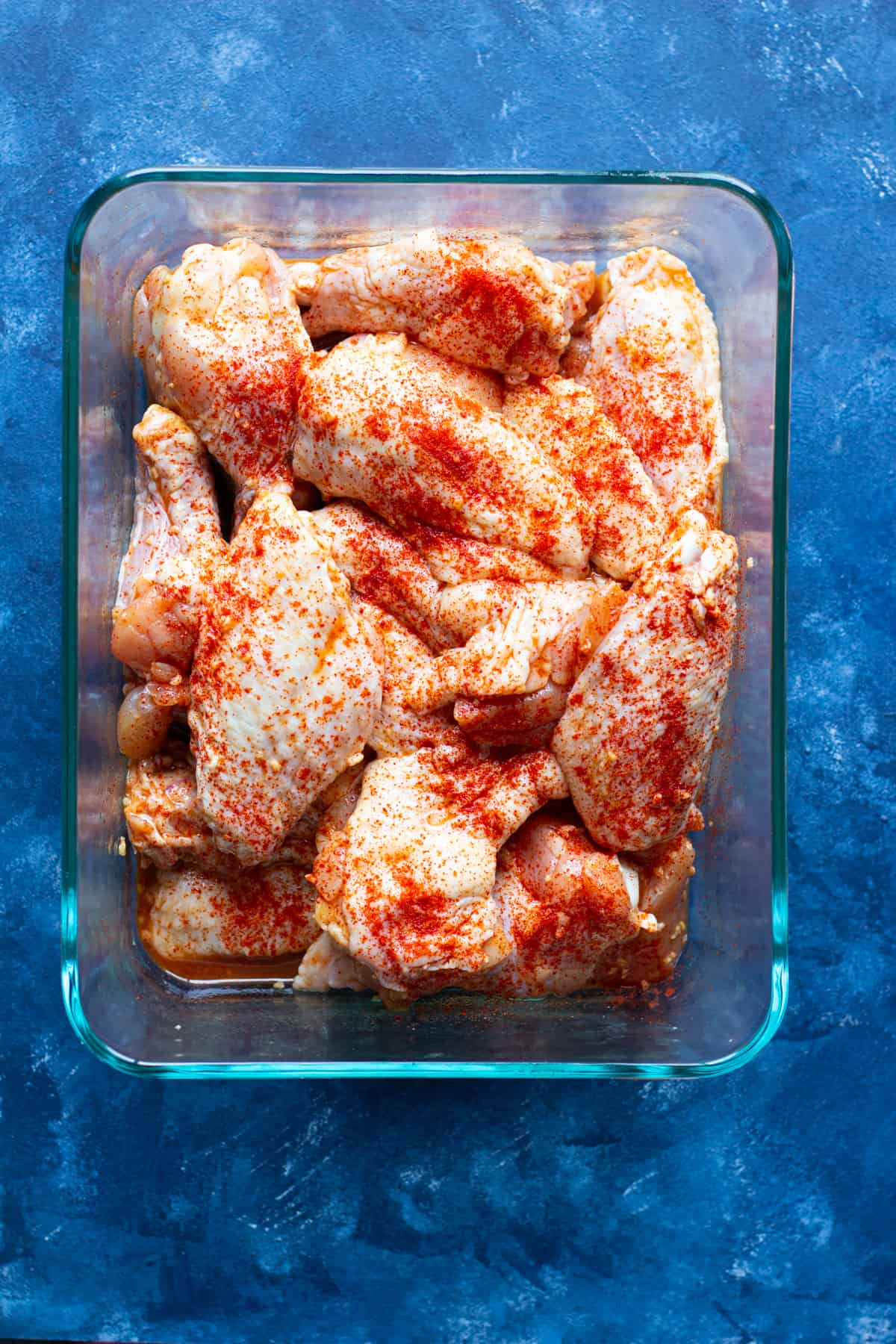 paprika adds color and flavor to chicken wings.