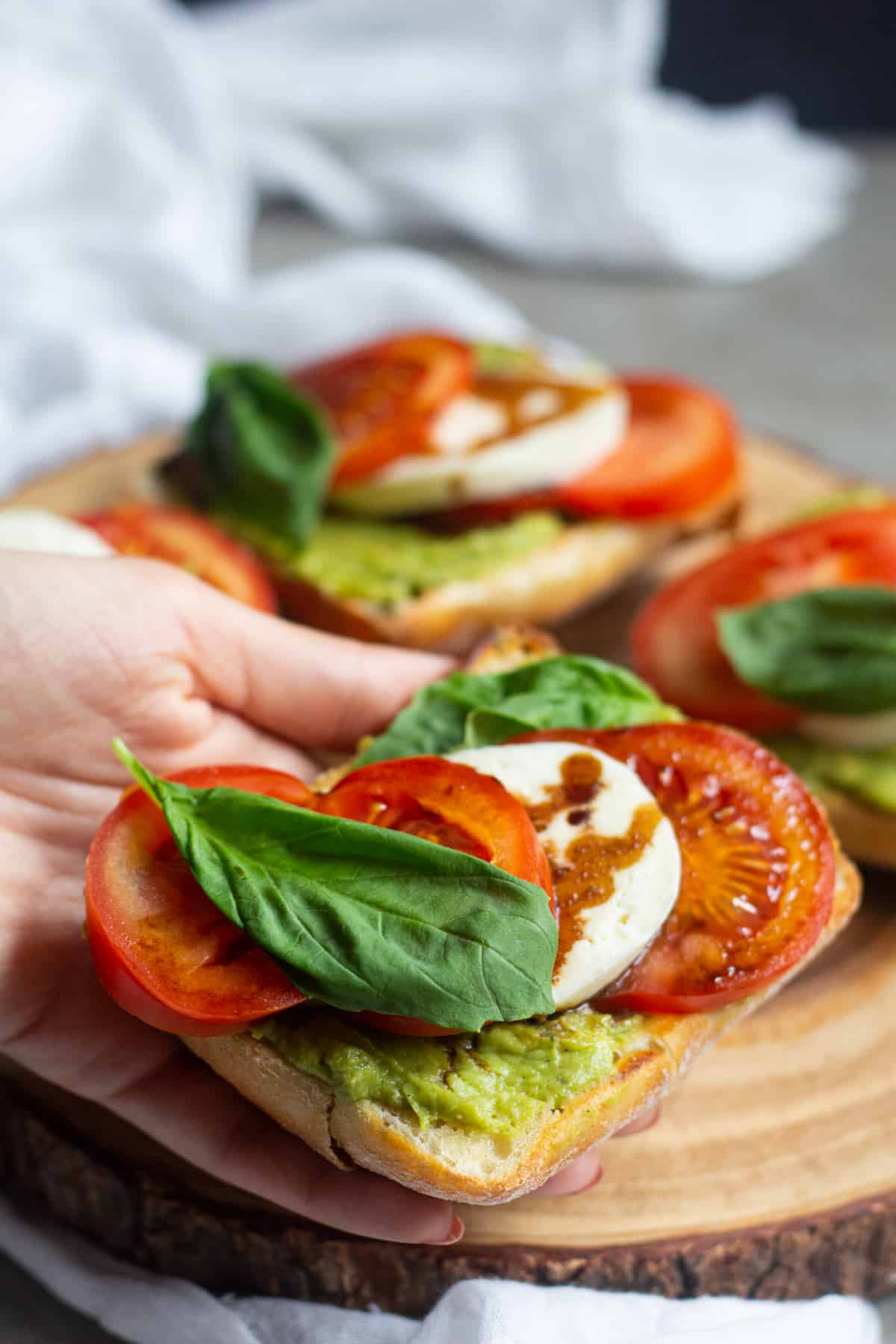 caprese sandwich with avocado
