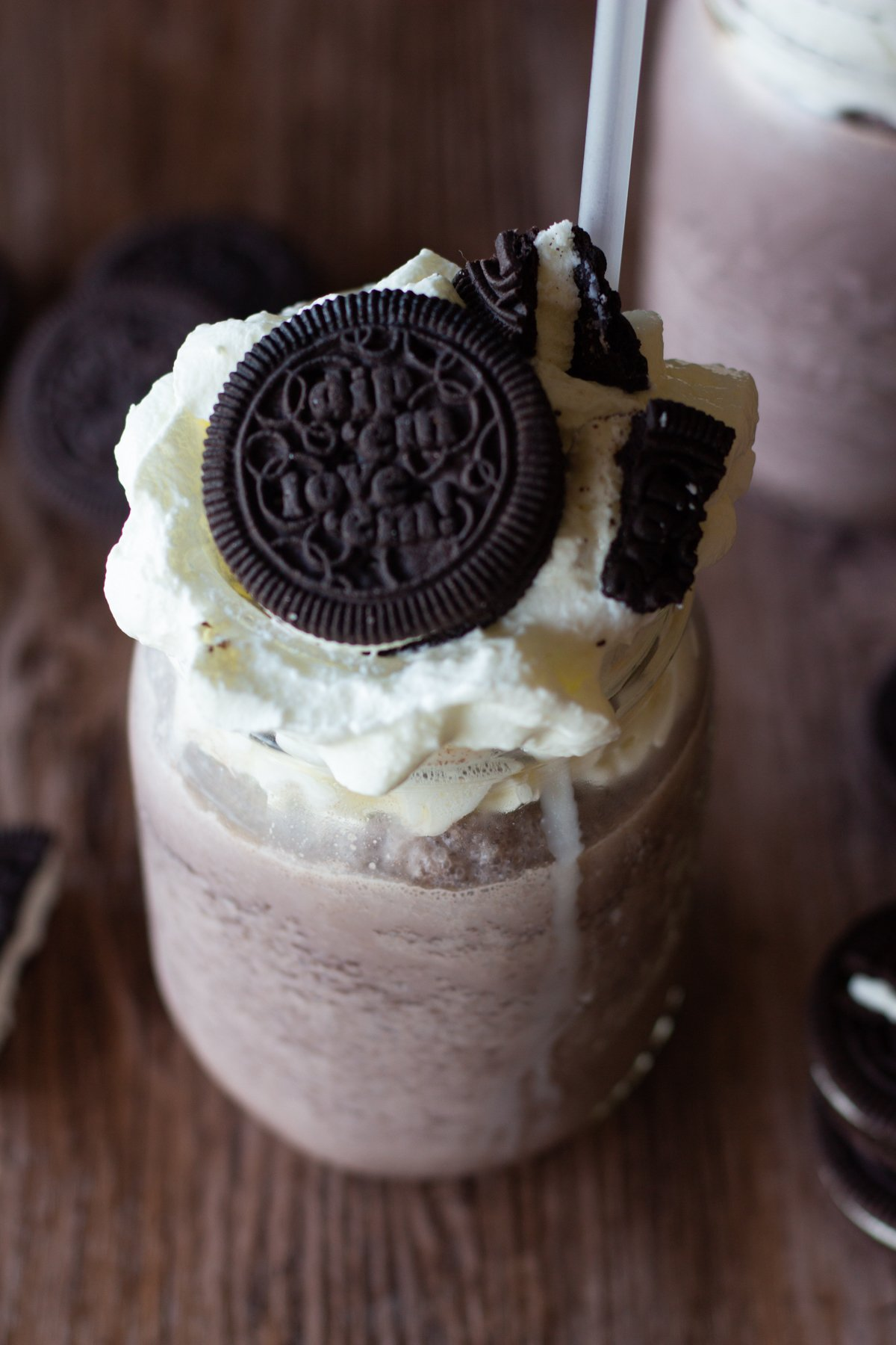 cookies and cream milkshake - This milkshake is better than the one made at chik-fil-a and is full of oreos!