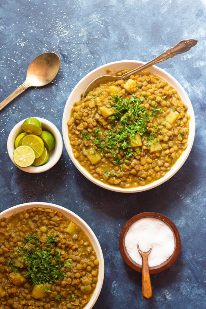Adasi is a classic Persian lentil soup that's vegetarian and gluten free. Learn how to make this easy Persian recipe with this step by step tutorial and video.